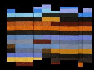 Connemara Boglands |  2012  |  Acryl, Sand und Sägemehl  |  montiert aus 8 Einzelbildern  |  190x140 cm