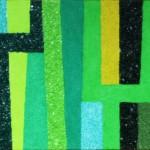 Im Regenwald | 2011 | Acryl und 7 Sorten Sand | 70x50 cm