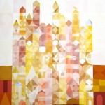 Marrakesch 4  |  2013  |  Acryl  |  80x120 cm | (123 Farben auf 1176 Feldern)