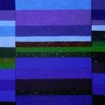 Poulaphouca Reservoir, River Liffey, Co. Wicklow, Ireland | 2011 | Acryl und 7 Sande, | montiert aus 3 Teilbildern | 150x75 cm