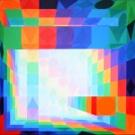 Säulenhalle | bunt 1 | 2010 | Acryl | 100x100 cm