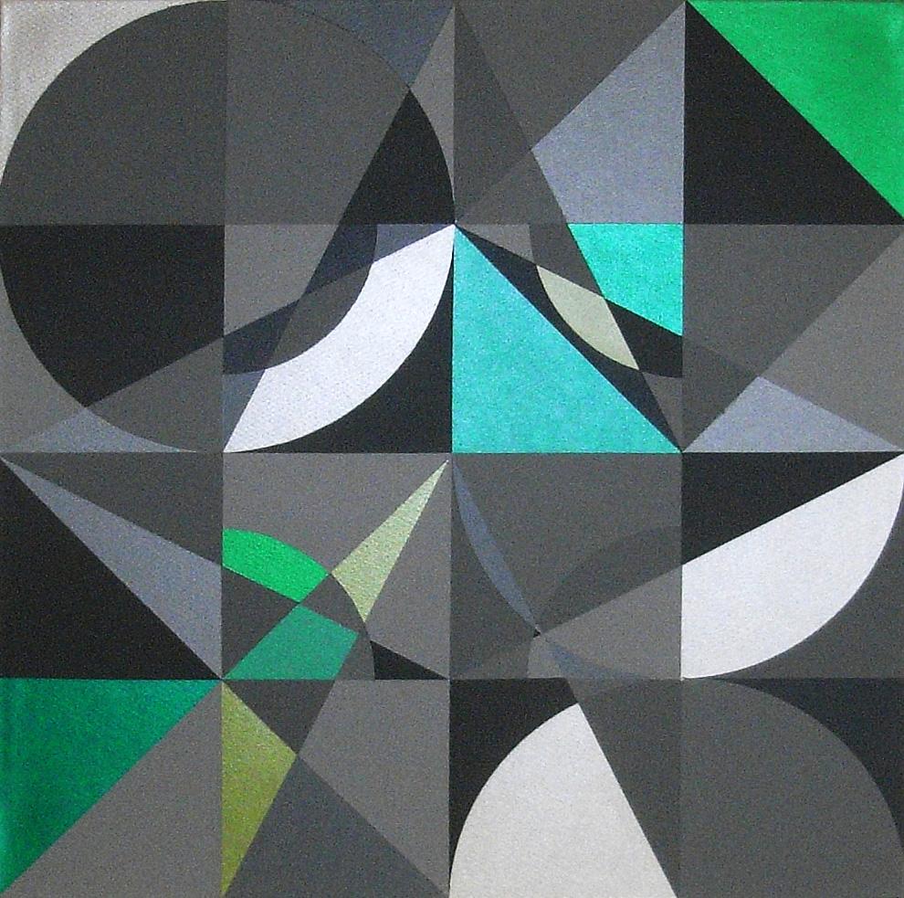 Prisma 1 grün |  2013  |  Acryl  |  60x60 cm
