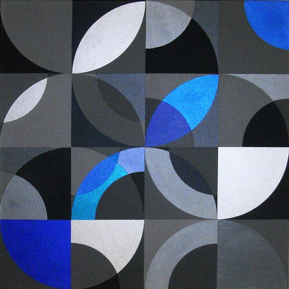 Prisma 2 blau     2013     Acryl    60x60 cm
