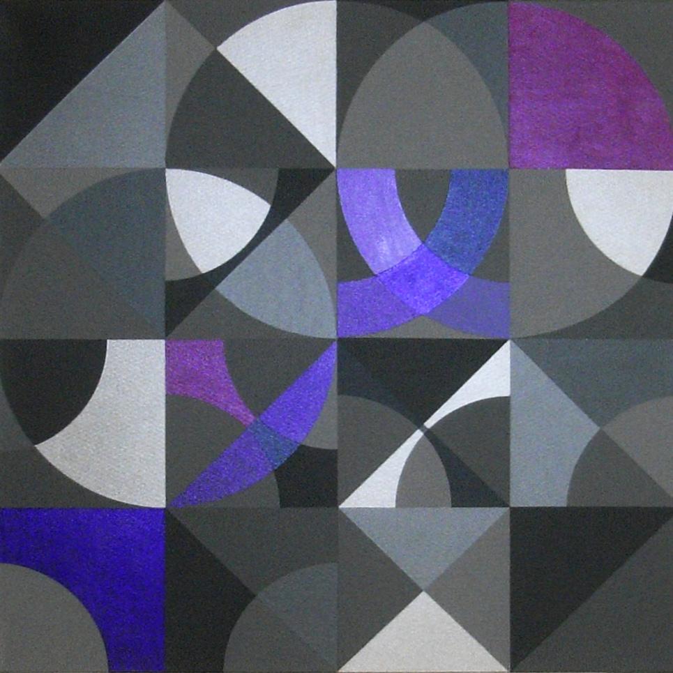 Prisma 3 violett  |  2013  |  Acryl  |  60x60 cm