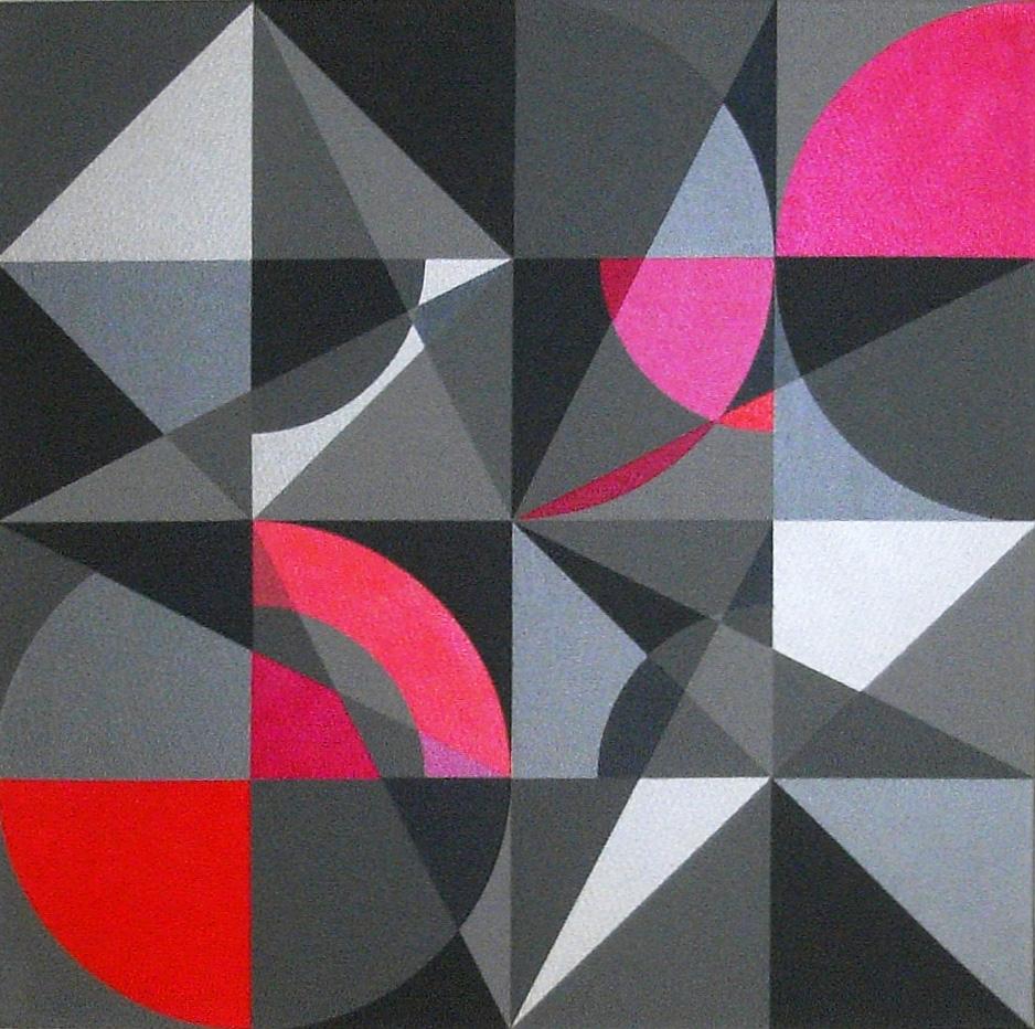 Prisma 4 rot  |  2013  |  Acryl  |  60x60 cm