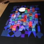 2001 Nacht  |  2012  |  Acryl auf Holz  |  120x160 cm | (192 Holztafeln á 10x10 cm; waagrecht, beweglich
