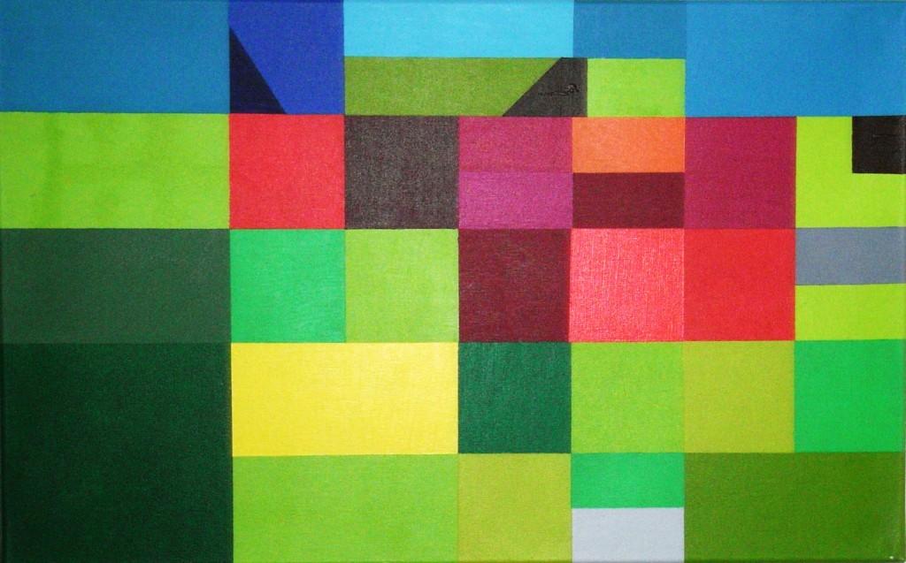Metamorphose Garten Eden west 1 |  2008  |  Acryl  |  80x50 cm