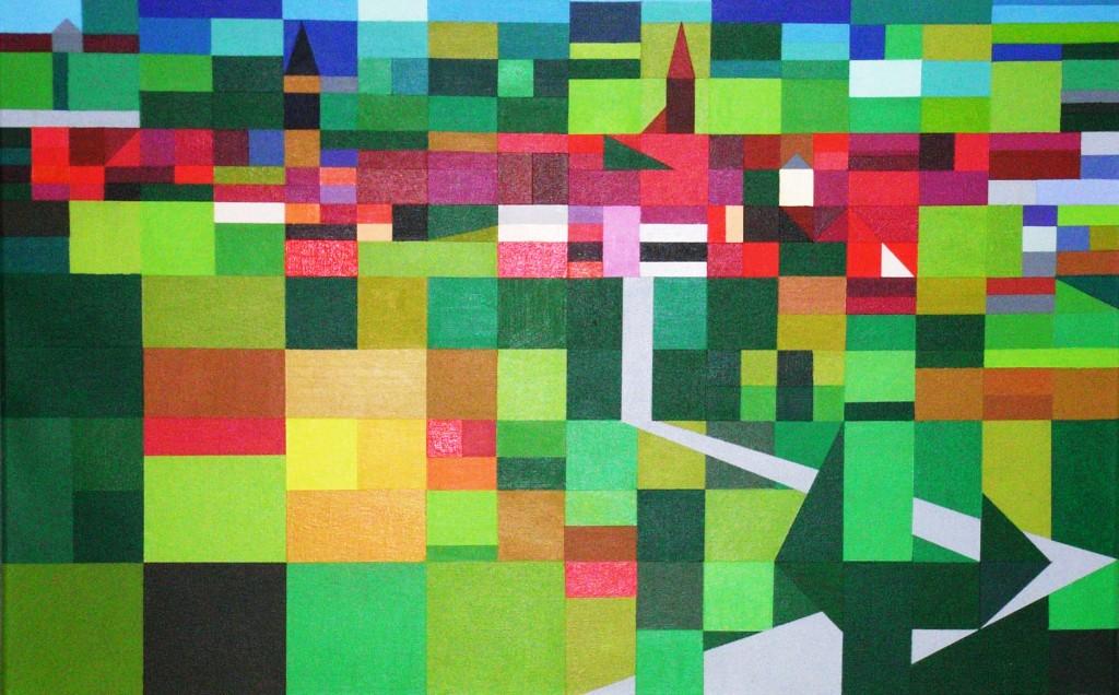 Metamorphose Garten Eden west 3 | 2008  |  Acryl  |  80x50 cm