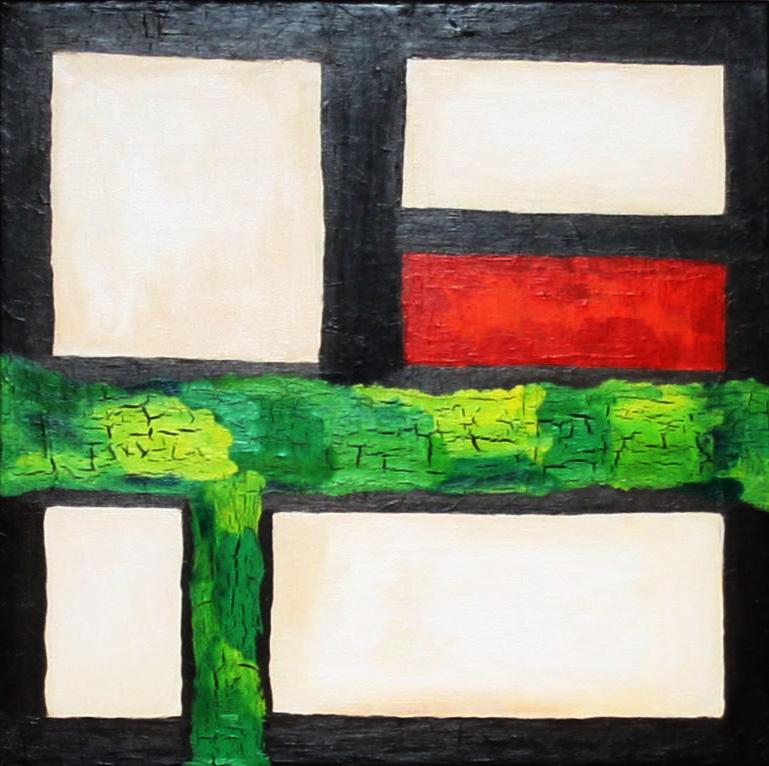 Haus an der Saline   |   2011  |  Acryl  |  2x  80x80 cm