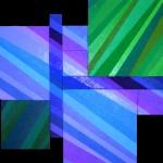 In Bewegung I (linear)       2011     Acryl, Mohn, Senf, Sande    montiert aus 10 Teilbildern     170x130 cm