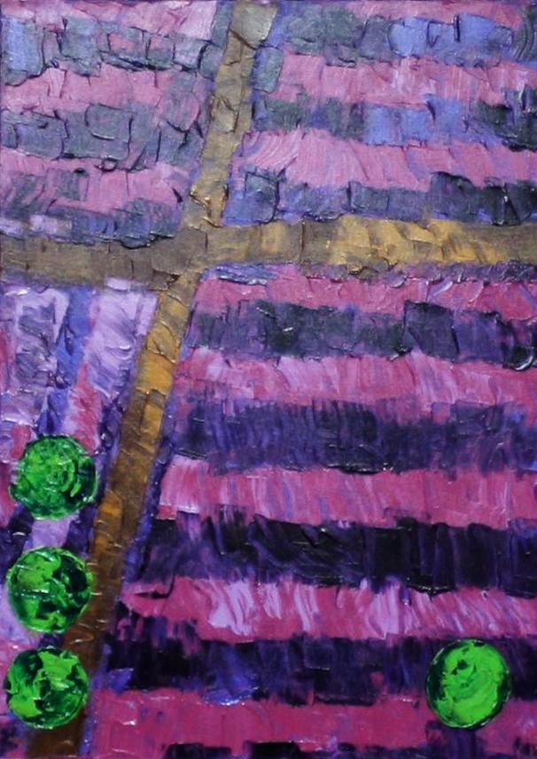 Lavendelblüte    2011     Acryl     50x70 cm