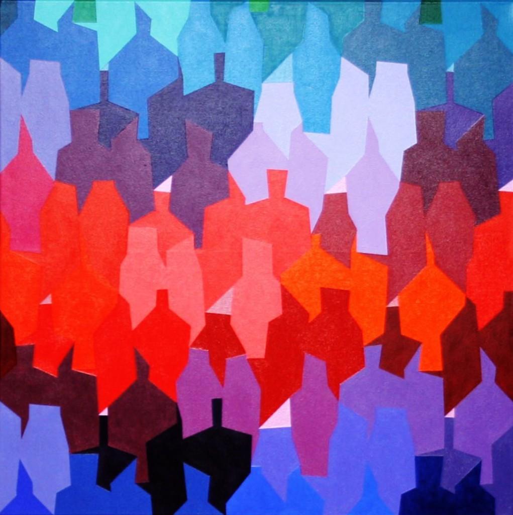 leichtes Beben 1  I   2012  |  Acryl  |  100x100 cm