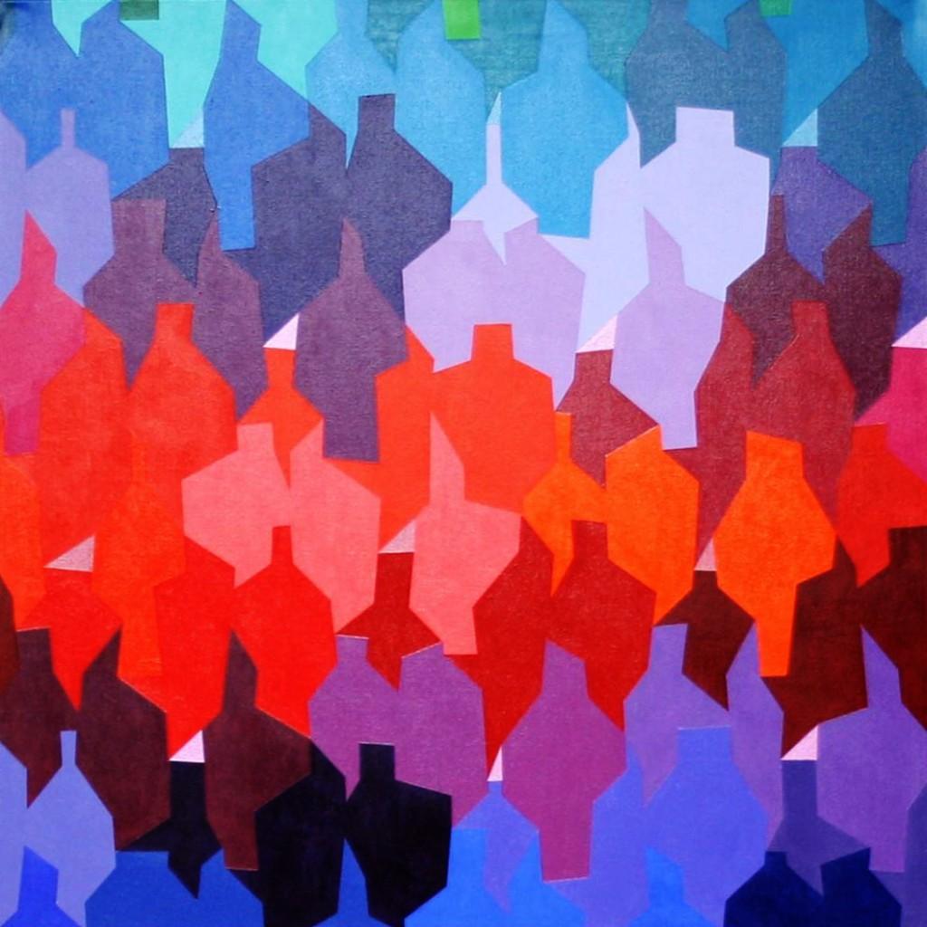 leichtes Beben II  |   2012  |  Acryl   |  100x100cm