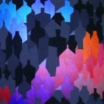 October uprise | 2013 | Acryl (metallic Acryl und Abstufungen von grau) | 100x100cm