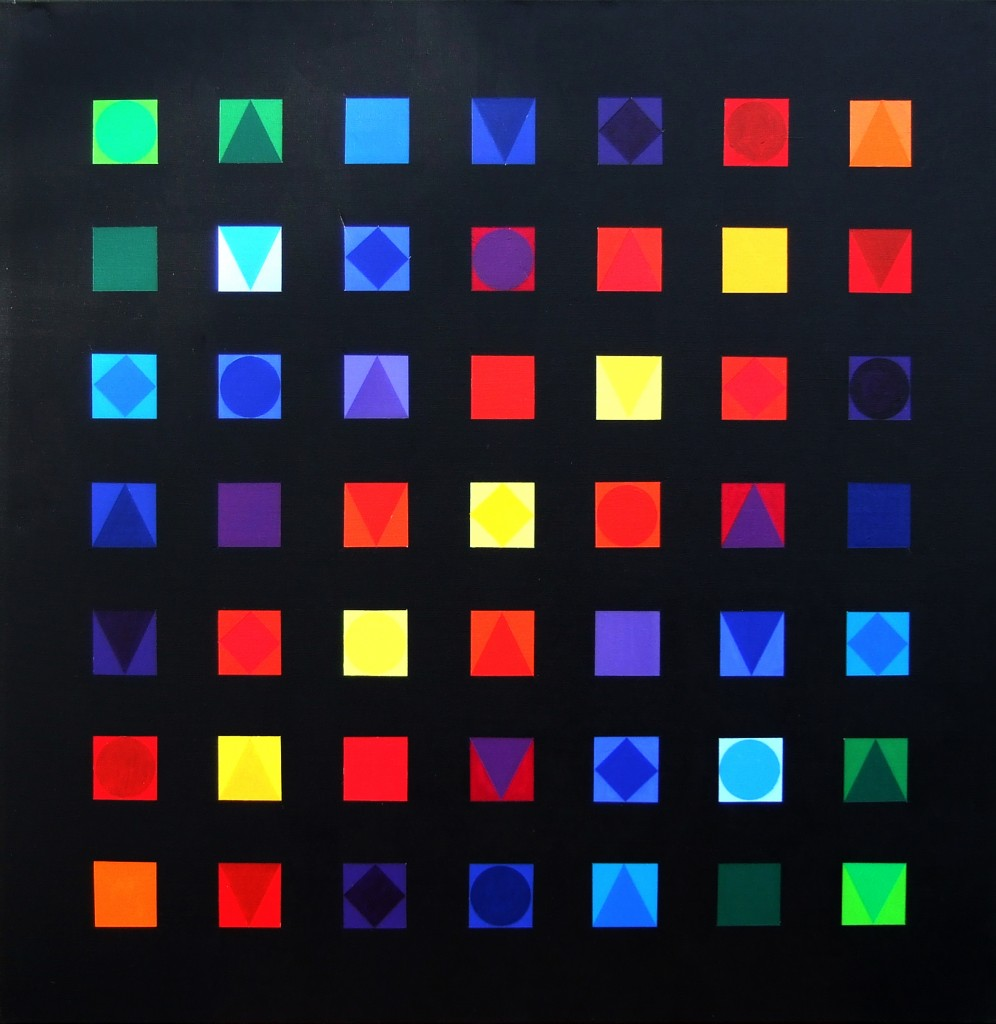 49 Quadrate | 2xxxx | Acryl | 100x100cm