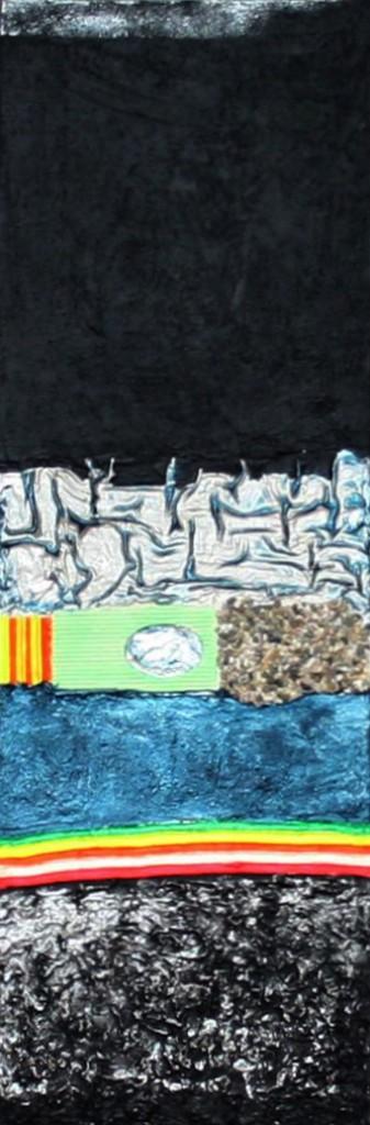Rainbow    |   2012  |  Acryl, Stoff, Sägemehl und Sand  |  3x  30x90 cm