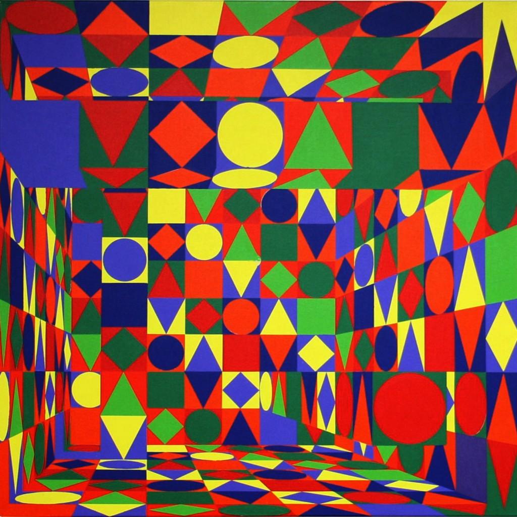 Säulenhalle  |  1973 revisited  |  2010  |  Acryl  |  100x100 cm