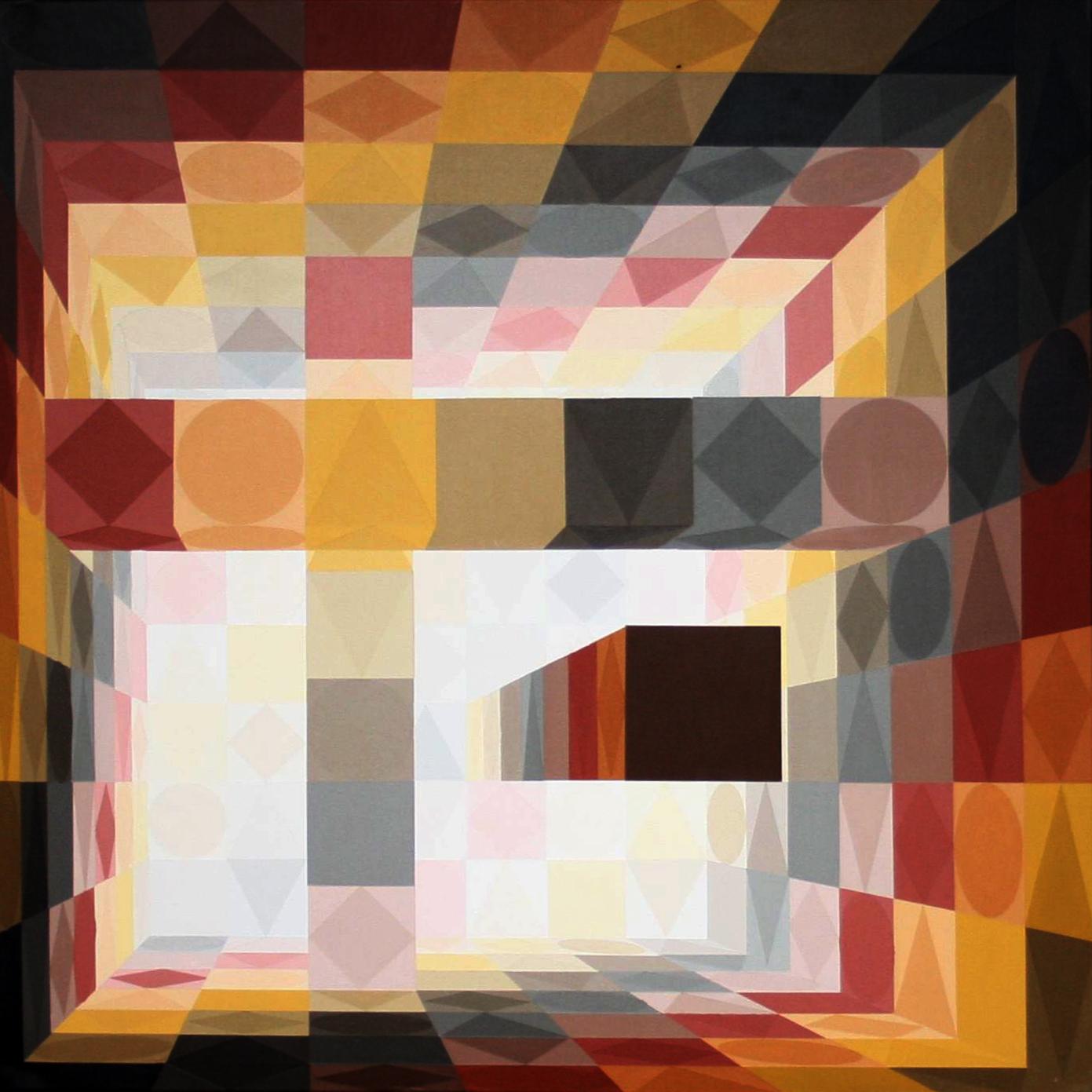 Säulenhalle | braun2 | 2011 | Acryl | 100x100 cm (112 verschiedene Brauntöne)