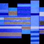 unendliche Weite     2011     Acryl und Sande     montiert aus 16 Teilbildern     200x100 cm