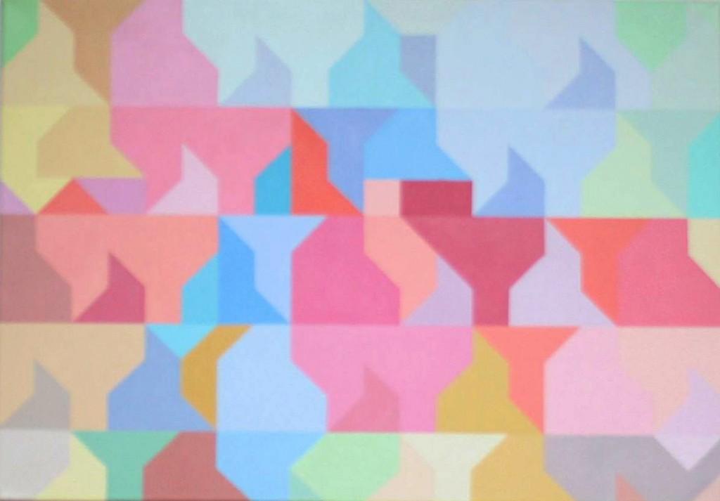 Waren (II) bei Morgennebel | 2009 | Acryl | 100x70 cm