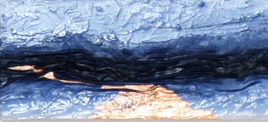 Zeit |   2012  |  Acryl, Stoff, Füllstoff, Metallfolie  |  40x20cm